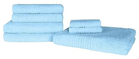 Highams Luxury Pink Soft 7 Piece Hand Bath Towel Bale Set 100/% Egyptian Cotton 550GSM