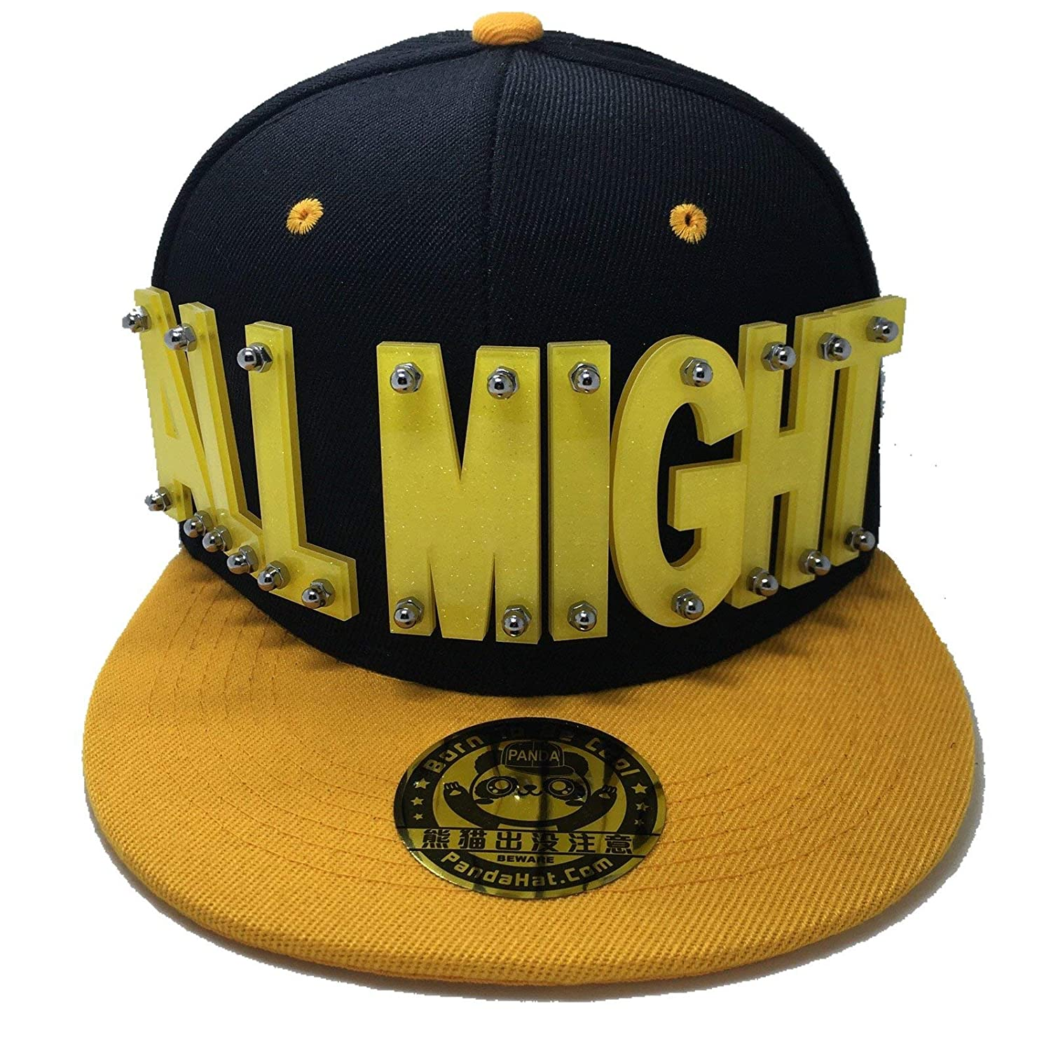 PANDAHAT ALLMIGHT Hat in Black with Yellow at Amazon Men s Clothing store  b53b985e512