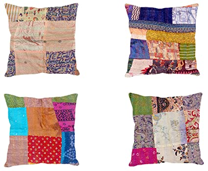 How to make a patchwork cushion by hand