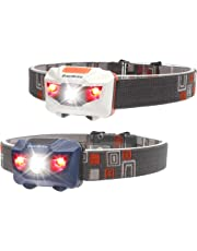 EverBrite 2-Pack LED Headlamp with Red Light 150 Lumens CREE Bulb for Camping Running Hiking Fishing Ourdoor Sports AAA Batteries Included …