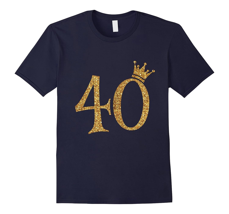 Gold Glitter Style Birthday Shirt-Awarplus