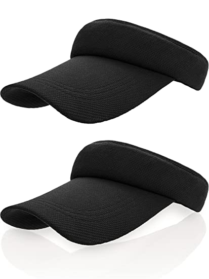 Frienda Sun Visor Cap Tennis Hat Golf Baseball Cap with Adjustable Strap  (Black ce5fa67f818
