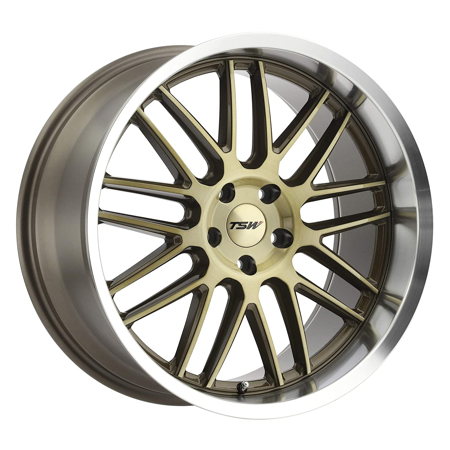 """TSW AVALON Custom Wheel - 18"""" x 9.5"""", 39 Offset, 5x114.3 Bolt Pattern, 76.1mm Hub - Bronze with Brushed Face and Machined Lip"""