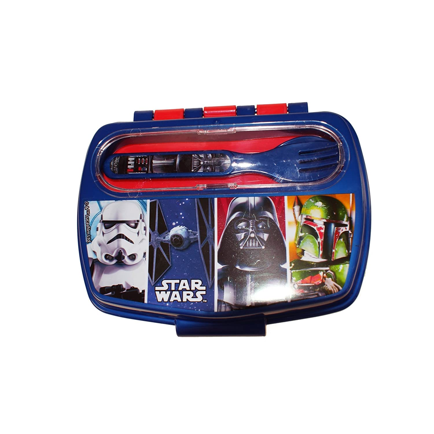 Boyz Toys ST442 Sandwich Box with Cutlery - Star Wars, Multi: Amazon.es: Hogar