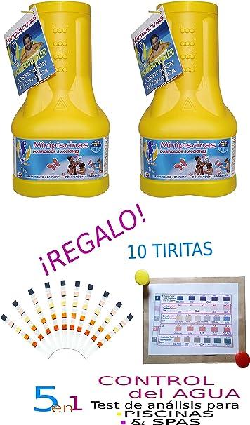 DOSIFICADOR Flotante MINIPISCINAS 1 KG (Pack DE 2 Unidades ...