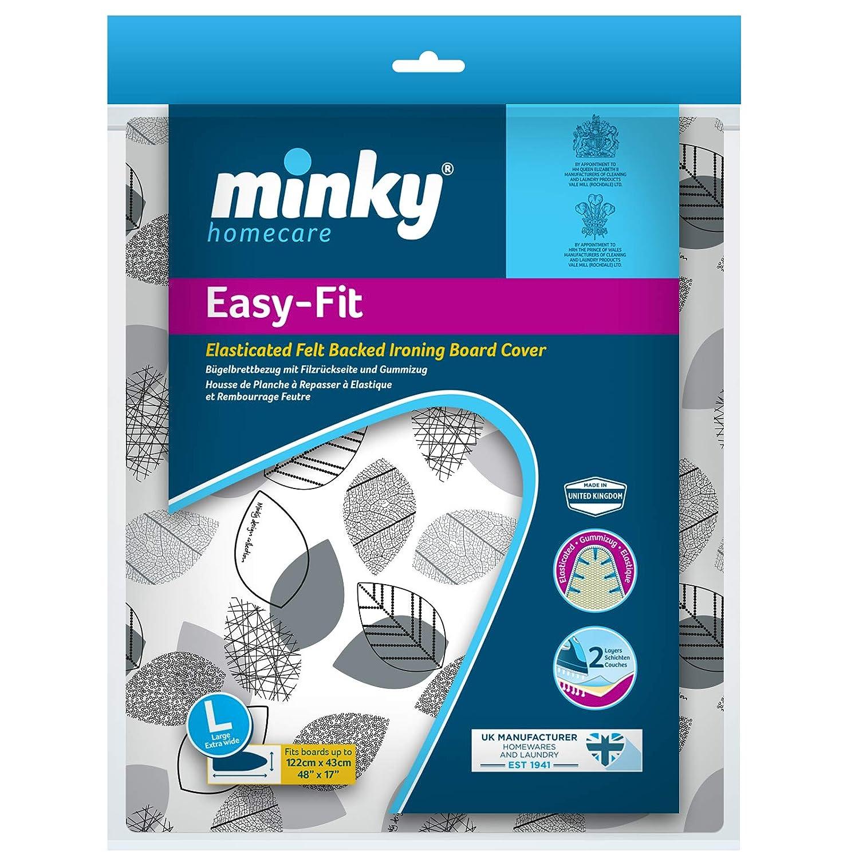 Minky Easyfit Ironing Board Cover 110x35cm Elasticated Easy Tie Pretty Design