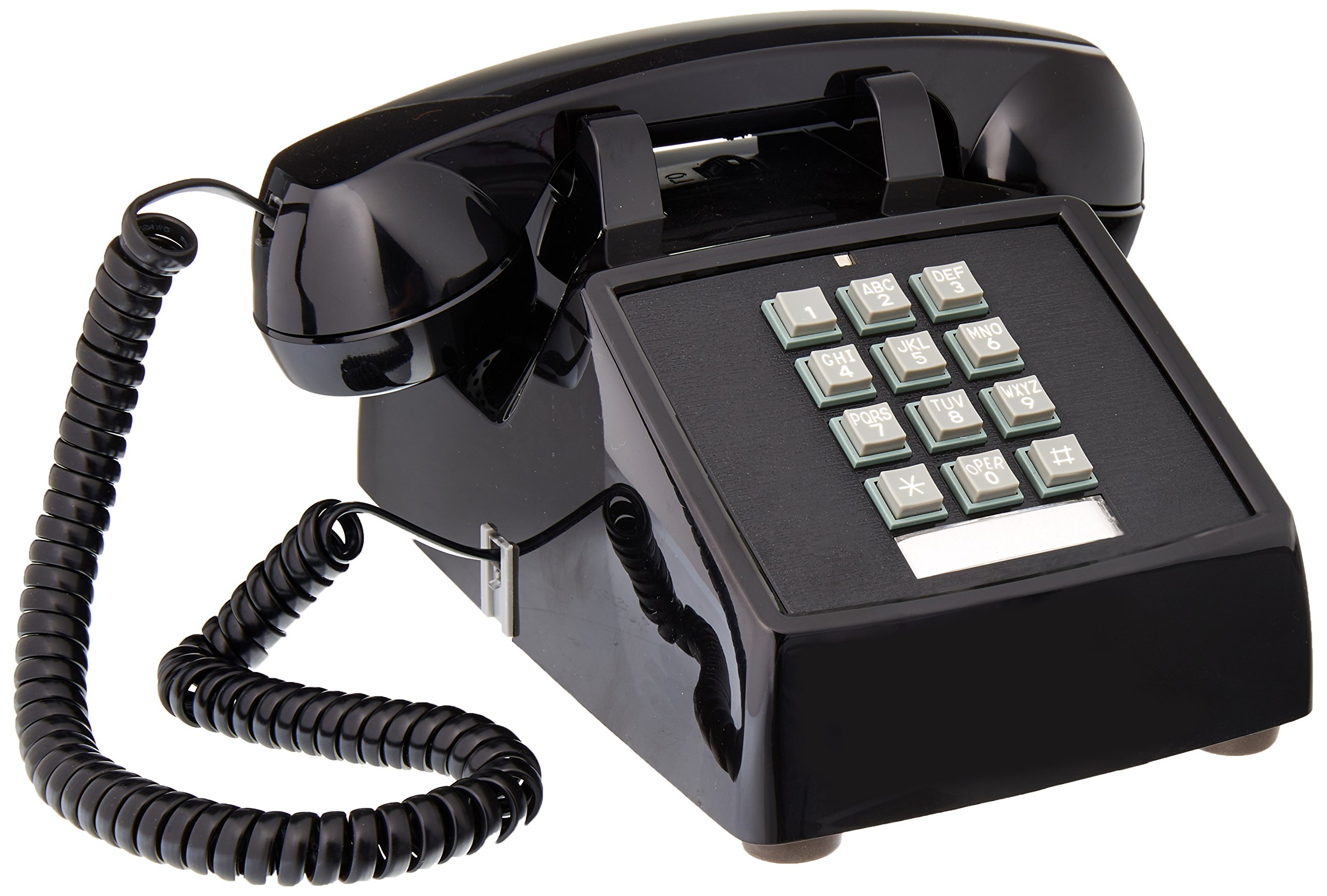 Cortelco Desk Phone, Black (250000-VBA-20M)