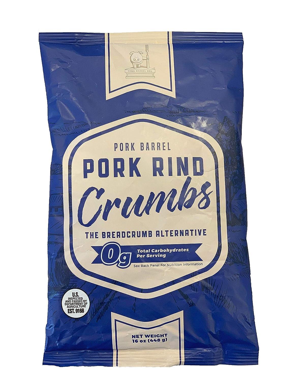 Pork Barrel Pork Rind Crumbs - 0 Carbs Breadcrumb Panko Alternative - Low Carb Keto Diet Pork Rind Breadcrumbs! Perfect For Ketogenic, Paleo, Sugar Free Diets