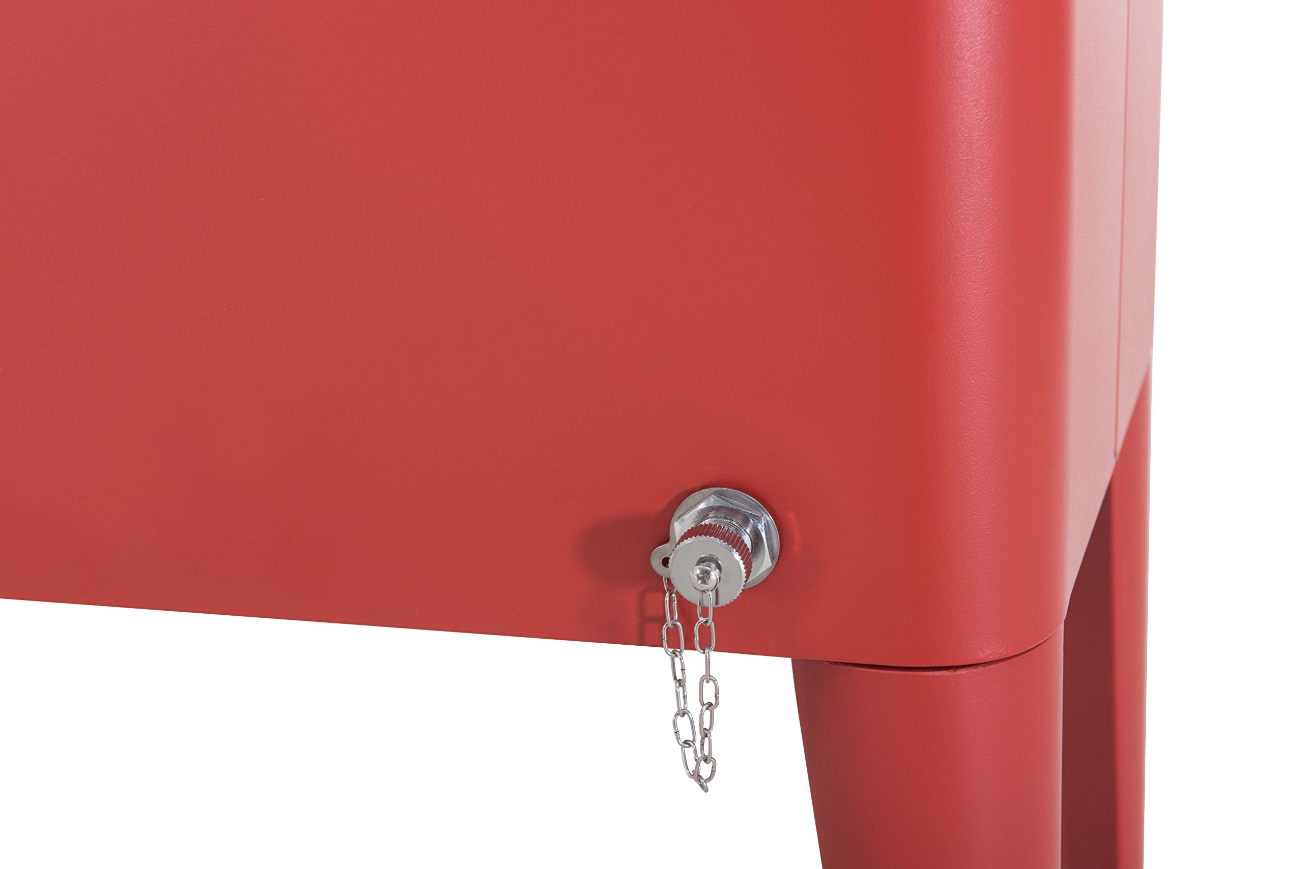Sunjoy L-BC153PST 60 quart Wheeled Beverage Cooler in Red by sunjoy (Image #9)