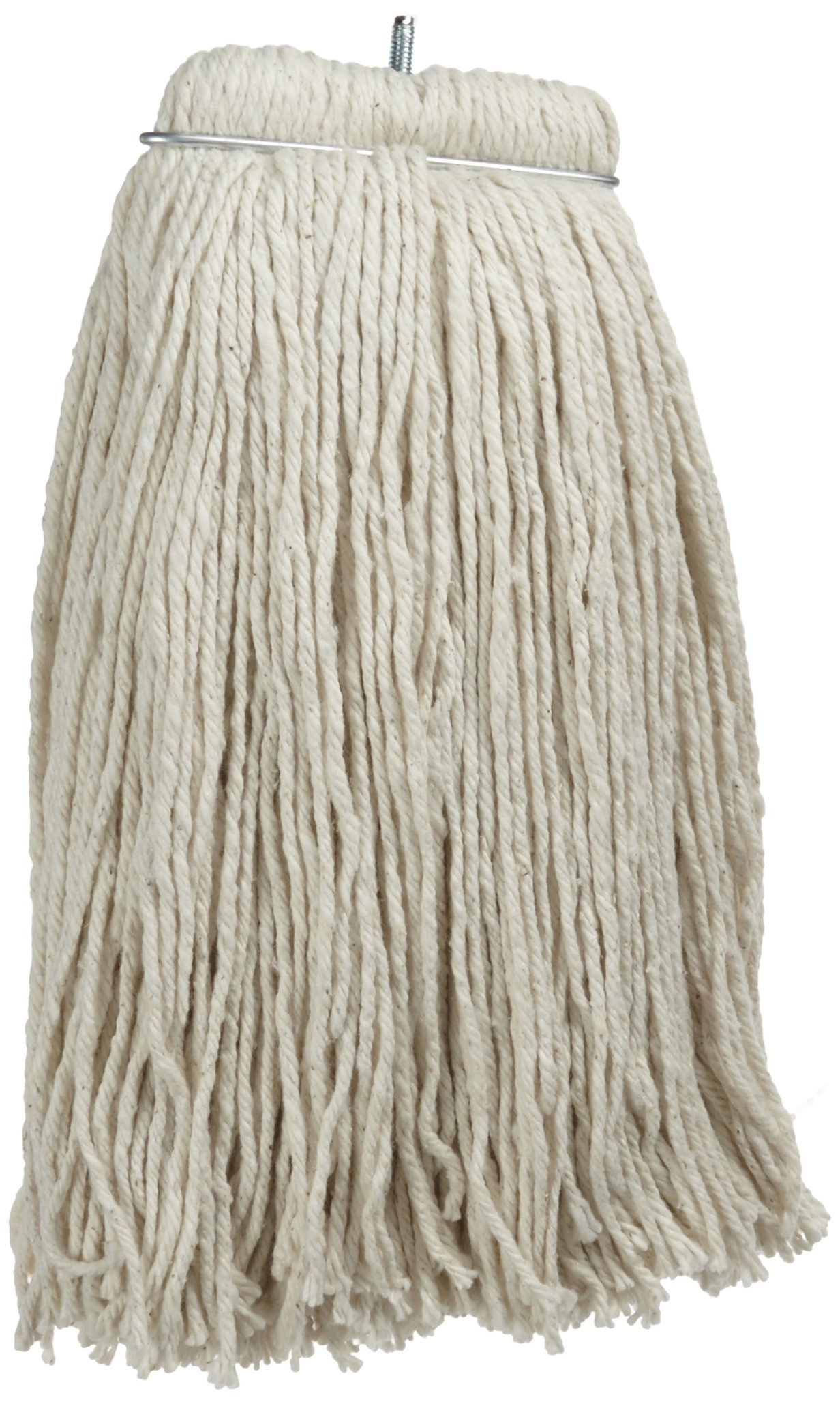 Impact 61200 Layflat Screw-Type Regular Cut-End Blend Wet Mop Head, 20 oz, White (Case of 12) by Impact Products