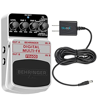 Amazon.com: Behringer FX600 Digital Multi-FX Pedal Bundle with Blucoil Power Supply Slim AC/DC Adapter 9V DC 670mA with US Plug: Musical Instruments