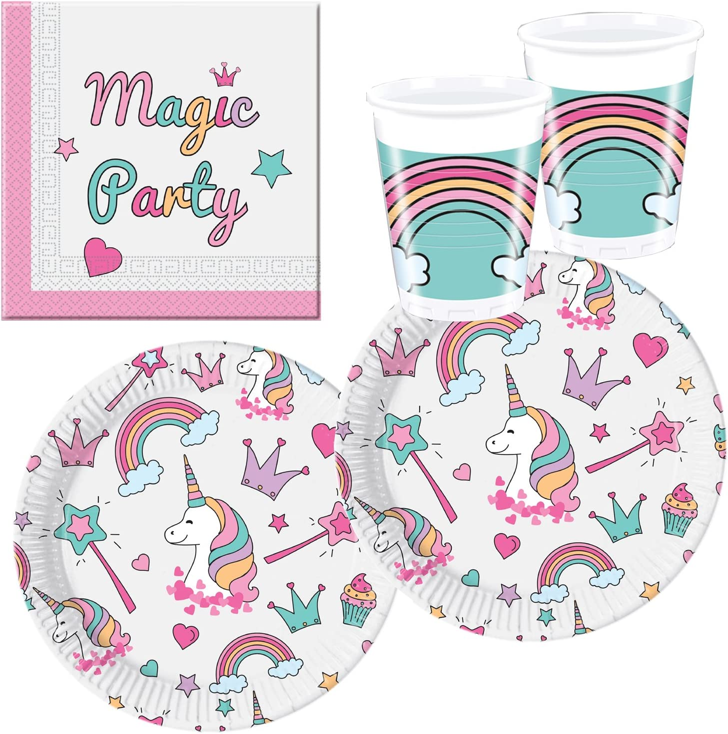 Procos 10118521 Party Set Unicorno Magic Party
