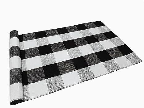 Amazon.com : Levinis Buffalo Checkered Kitchen Runner Rug 100 ...