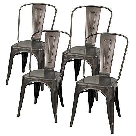 Super New Pacific Direct Metropolis Metal Side Chair Gunmetal Gray Set Of 4 Caraccident5 Cool Chair Designs And Ideas Caraccident5Info
