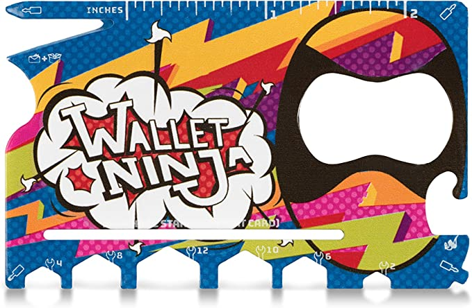 LIMITED EDITION: HIPSTER Wallet Ninja- 18 in 1 Credit Card Sized Multitool (#1 Best Selling in the World)