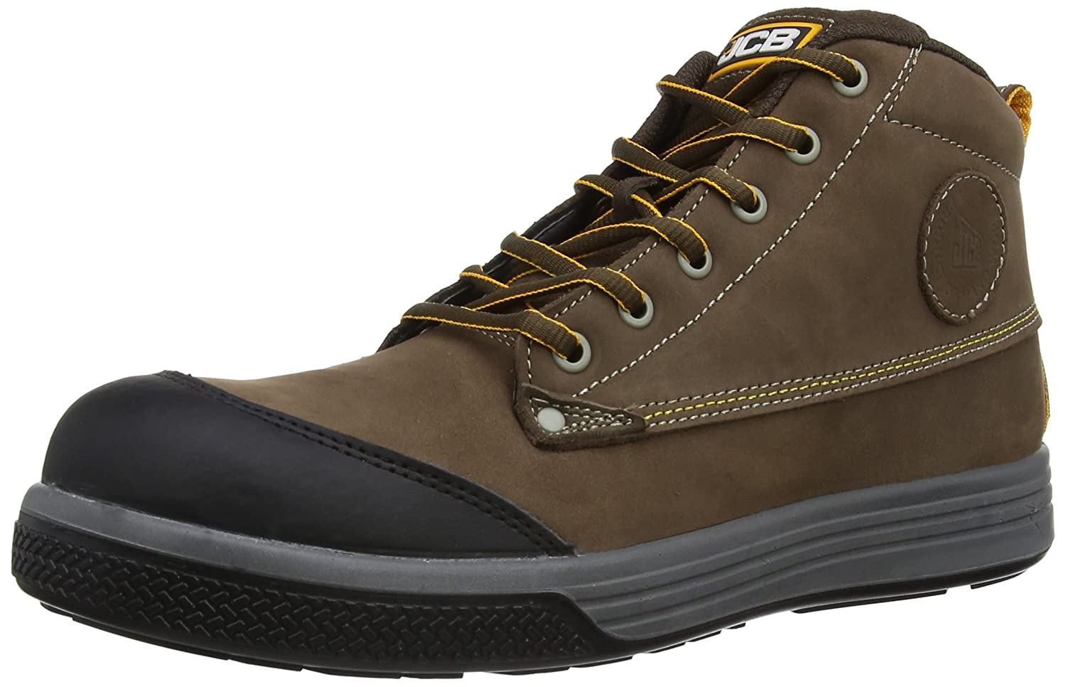 dc75b1fa480 JCB Mens 4CX Safety Shoes 4CX/T Brown 6 UK, 39 EU Extra Wide - EN safety  certified