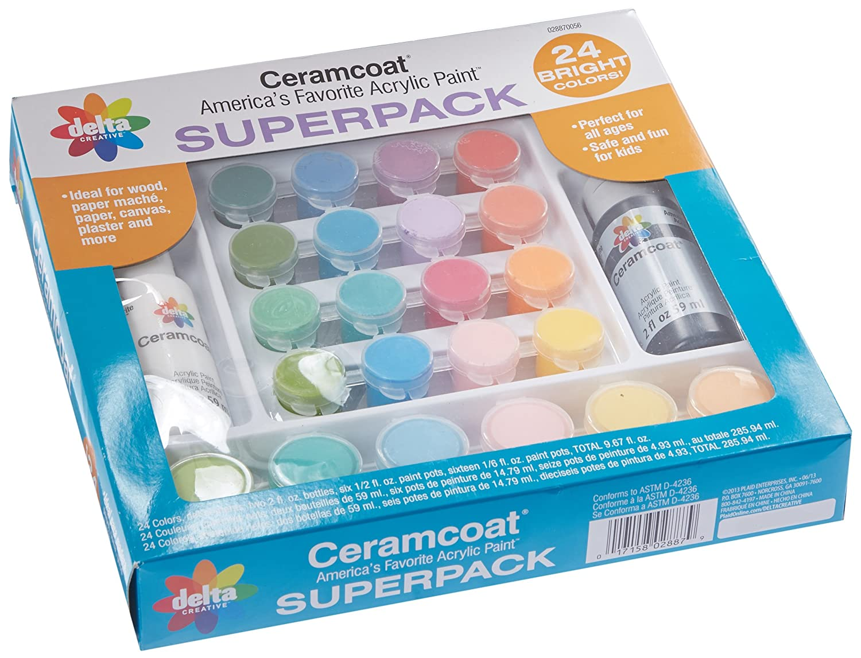 Amazon delta creative brights super pack paint set amazon delta creative brights super pack paint set 028870056 24 colors nvjuhfo Choice Image