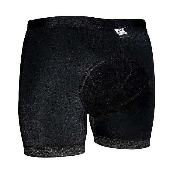 Amazon.com  X-2 Men s MTB Cycling Mountain Bike Baggy Loose Fit Plus 3D  Coolmax Padded Underwear Shorts  Sports   Outdoors f3b5bd5c8