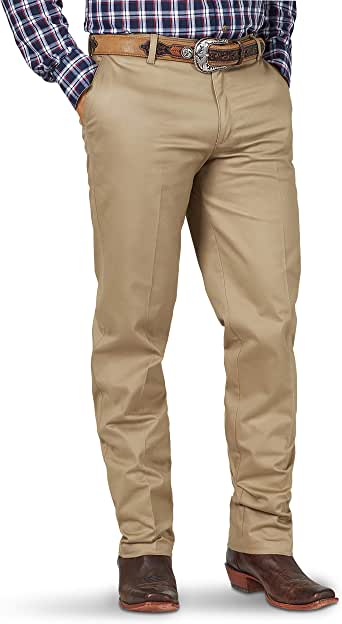 Wrangler Men's Western Flat Front Relaxed Fit Casual Pant