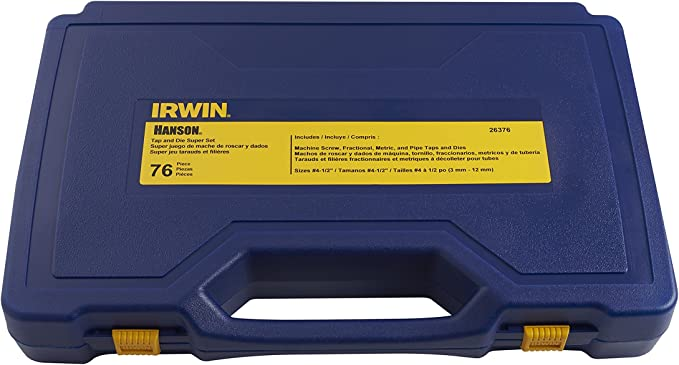 Fractional Metric Tap Hex Die Set Irwin Hanson 76-pc Machine Screw
