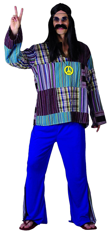 Rire et Confetti Fiahip011 - Disfraz de hippie Luxe para hombre ...