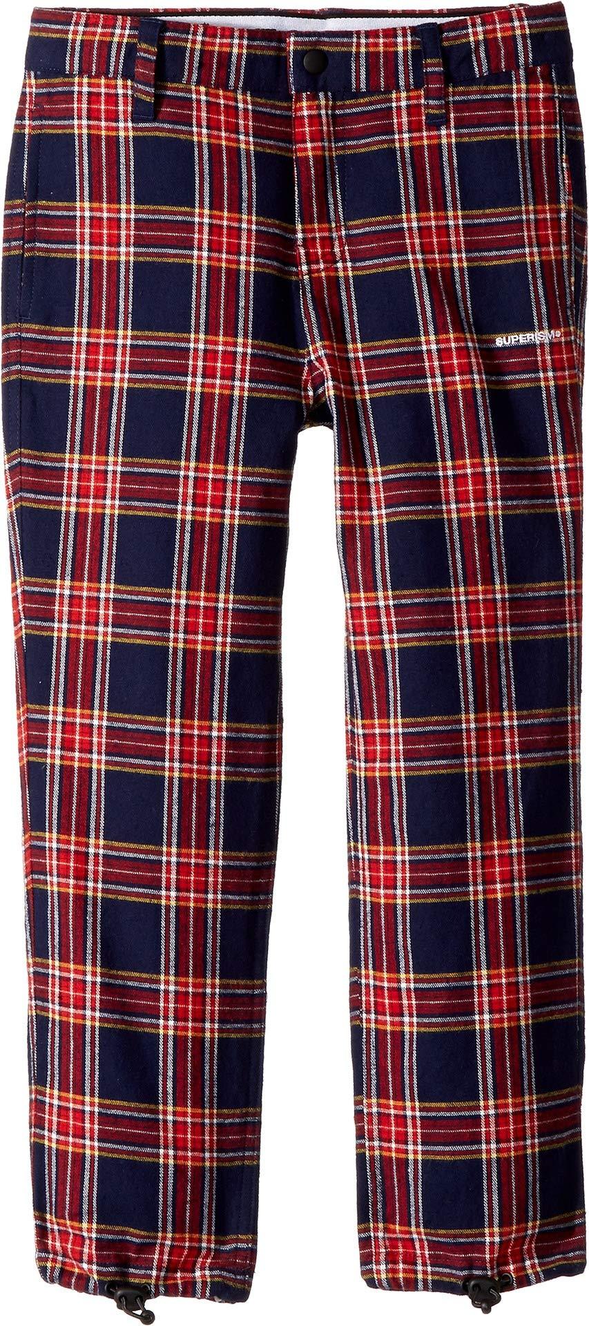 SUPERISM Baby Boy's Jamison Flannel Pants (Toddler/Little Kids/Big Kids) Navy 10