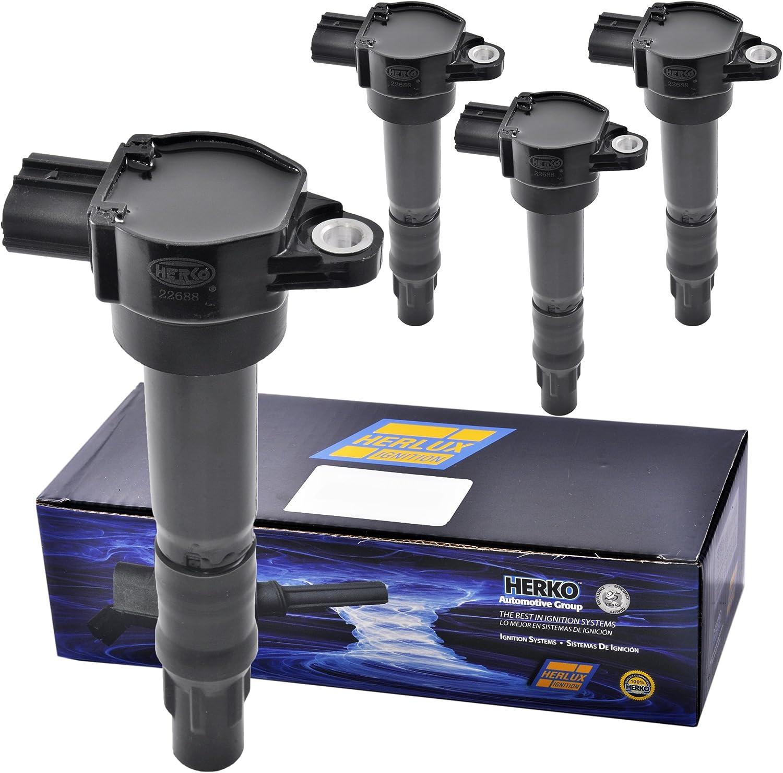Set of 6 Herko B097 Ignition Coils For Mitsubishi L4 V6 2.4L 3.8L 2004-2012