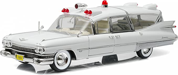 Voiture Miniature 1:18//Greenlight Collectibles CADILLAC Ambulance 1959 Blanc