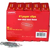 Staples #1 Size Paper Clips, Nonskid, 1,000/Pack