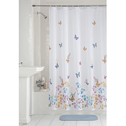 f8e86a81d077 Image Unavailable. Image not available for. Color  Mainstays Butterfly  Fabric Shower Curtain