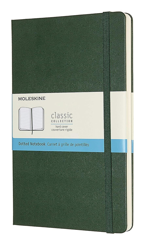 Moleskine Cuaderno Grande verde Con Paginas punteadas
