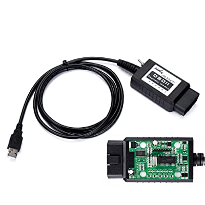 bbfly-BF32302 USB modified FTDI chip OBD-II Scan Tool for Windows bbflyFORScan HS-CAN / MS-CAN Ford Mazda OBD2: Automotive