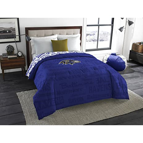 Amazon Com Nfl Baltimore Ravens Bedding Set Twin Home Kitchen .