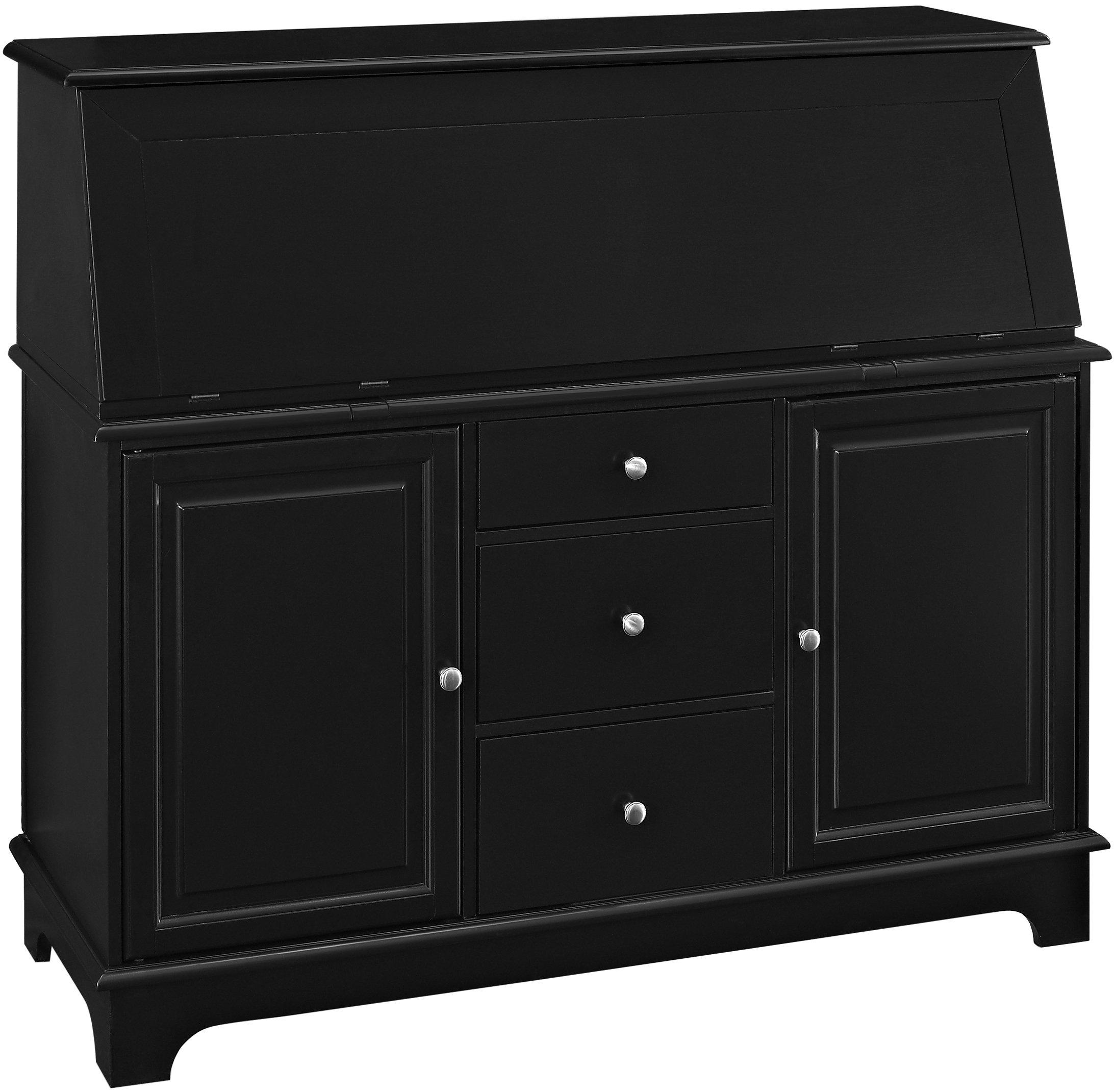 Crosley Furniture Sullivan Secretary Desk - Black by Crosley Furniture