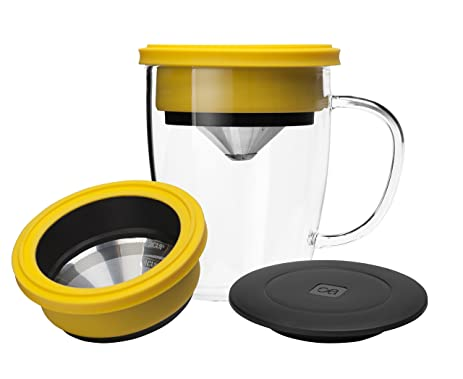 pour over coffee maker builtin stainless steel dripper with coffee cup temperature