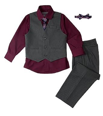 db7595250 Amazon.com  Spring Notion Baby Boys  5 Piece Pinstriped Vest Set ...