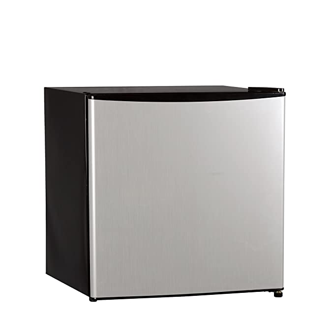 Midea WHS-65LSS1 Compact Reversible Single Door Refrigerator and Freezer, 1.6 Cubic Feet, Stainless Steel