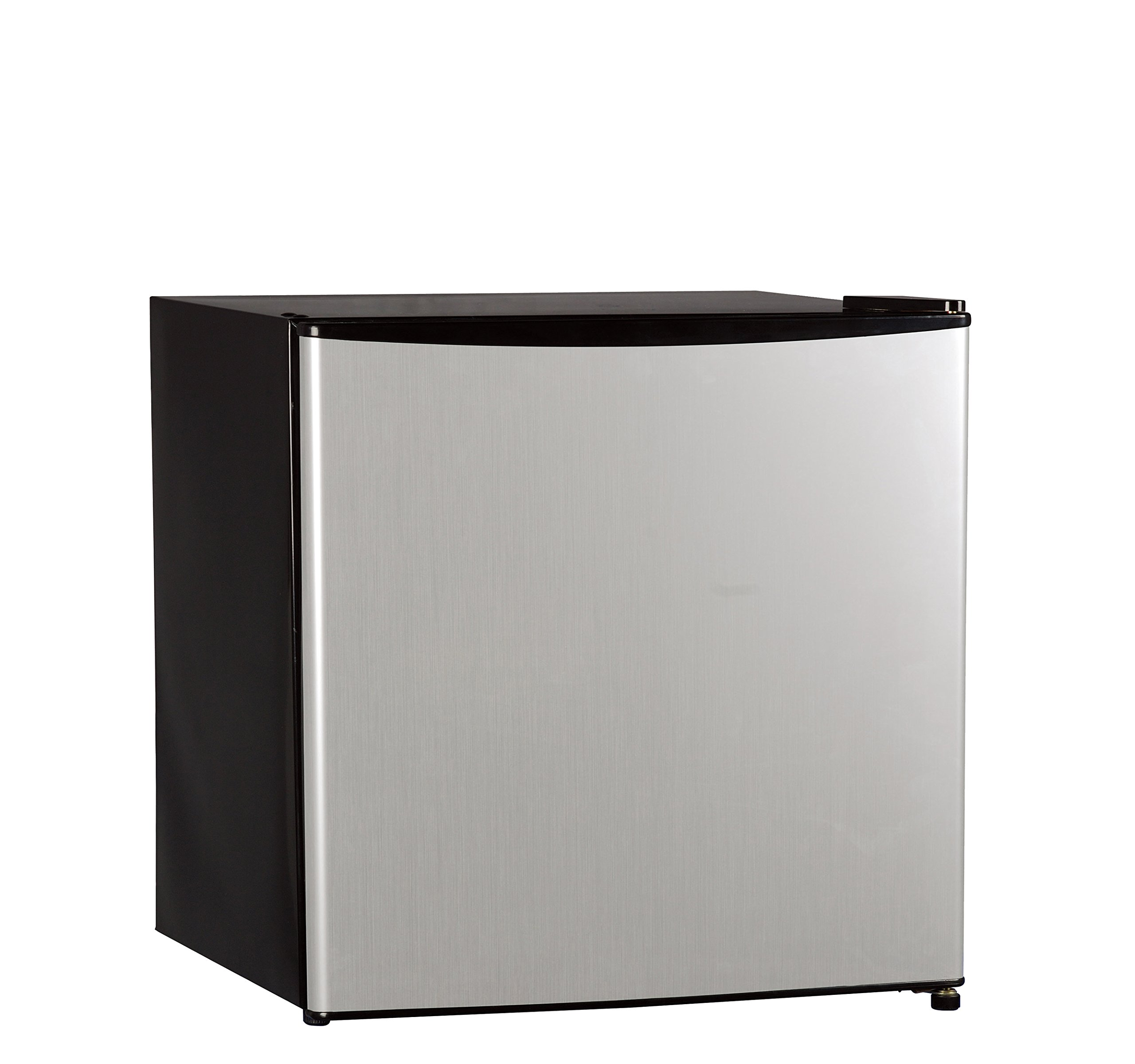 Midea WHS-65LSS1 Compact Single Reversible Door Refrigerator and Freezer, 1.6 Cubic Feet, Stainless Steel