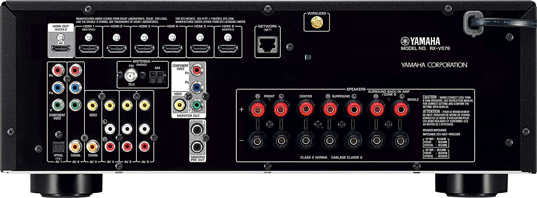 yamaha 3060. yamaha rxv579 black 7.2-channel wi-fi network av receiver with bluetooth: amazon.ca: electronics 3060