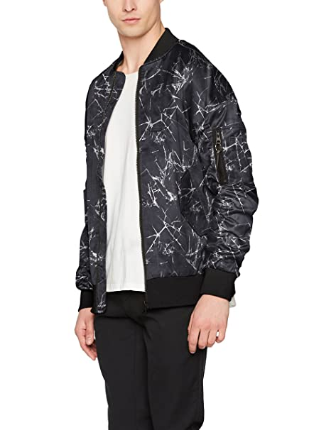 New Look Oversized Crackle Chaqueta Bomber para Hombre ...