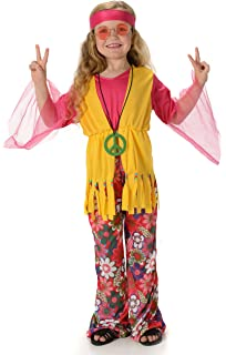 Childrens Boys Girls Unisex 60s 70s Hippie Hippy Fancy Dress Costume Outfit