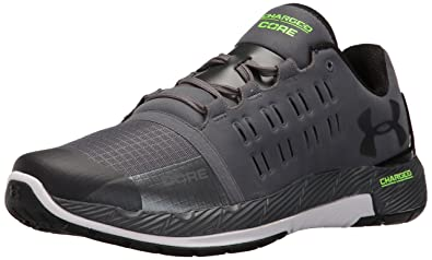 Under Armour Men's UA Charged Core Rhino Grey, White and Black Multisport Training  Shoes -