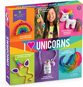 Craft-tastic – I Love Unicorns Kit – Craft Kit Includes 6 Unicorn-Themed Projects
