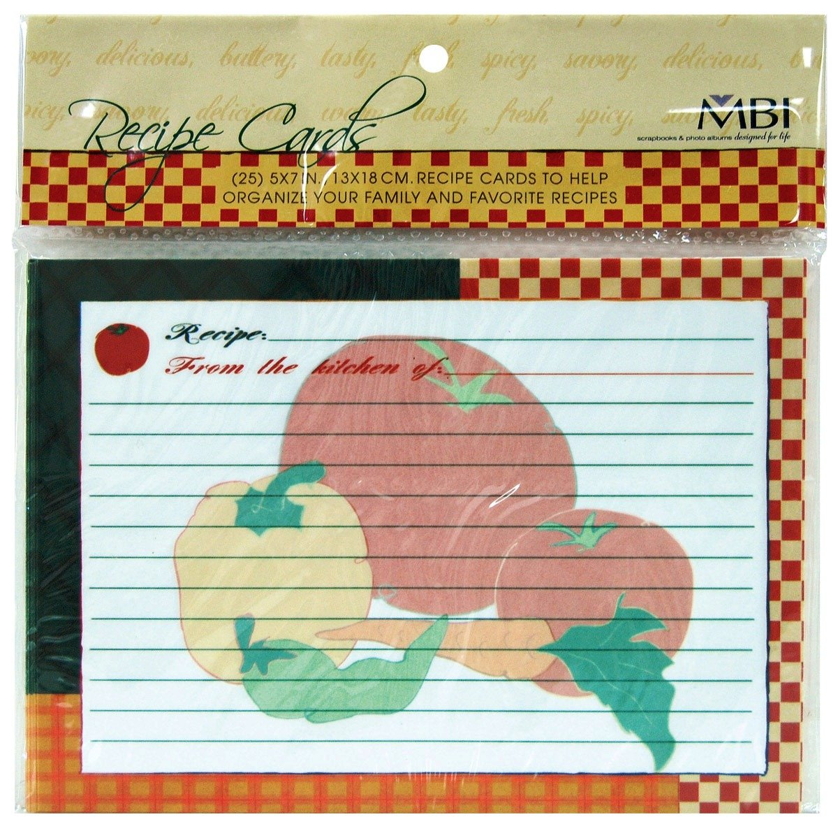 MCS 899856 MBI Recipes 5 Inch by 7 Inch Additional Cards 25/Package MCS Industries Inc.