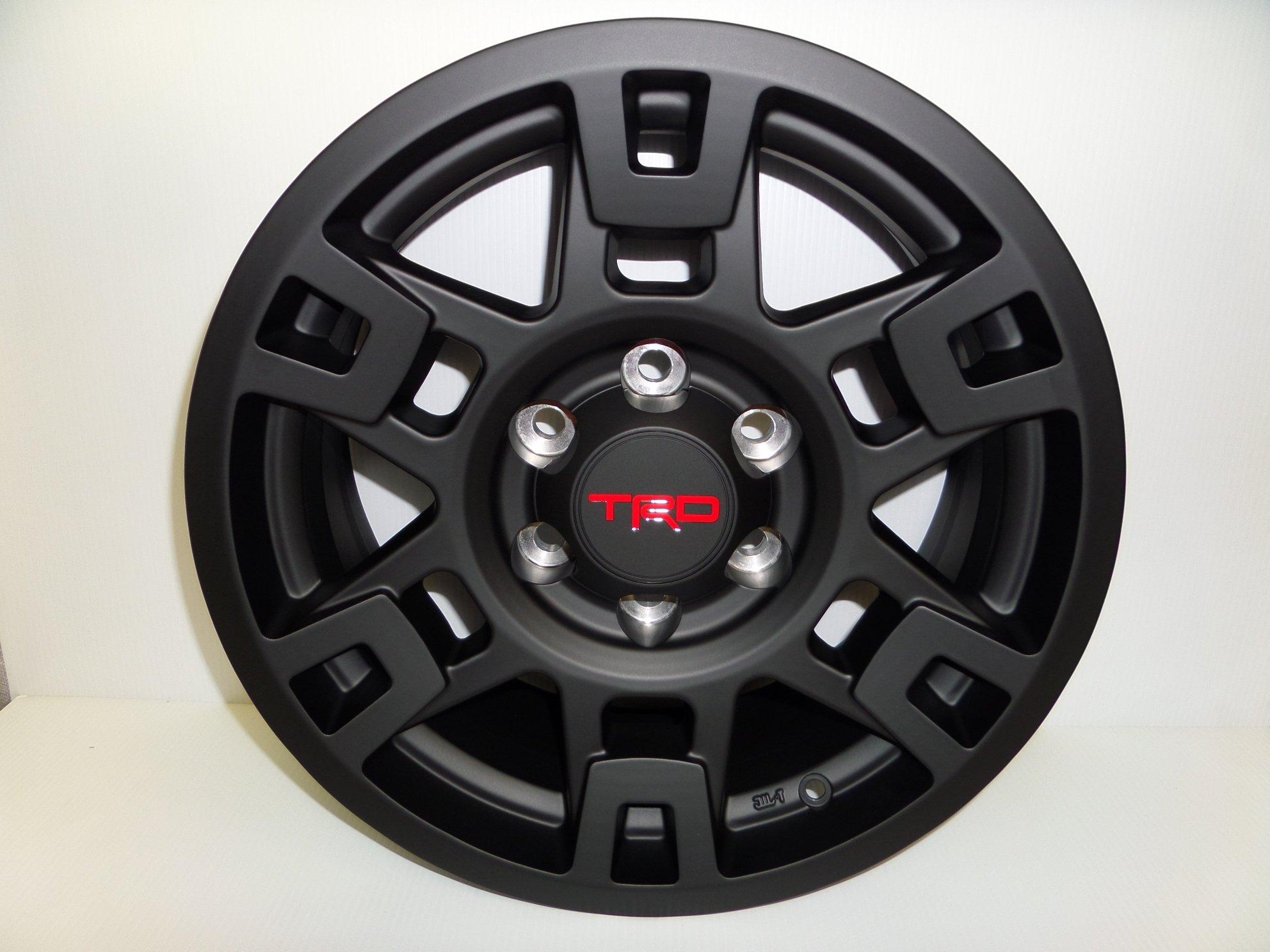 TRD PRO SEMA BLACK ALUMINUM RIM INDIVIDUAL FITS MULITPLE TOYOTA VEHICLES by Toyota (Image #1)