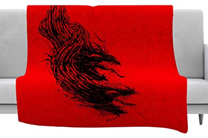 Kess InHouse Draper Cardinal Direction W White Illustration Throw 60 x 40 Fleece Blankets