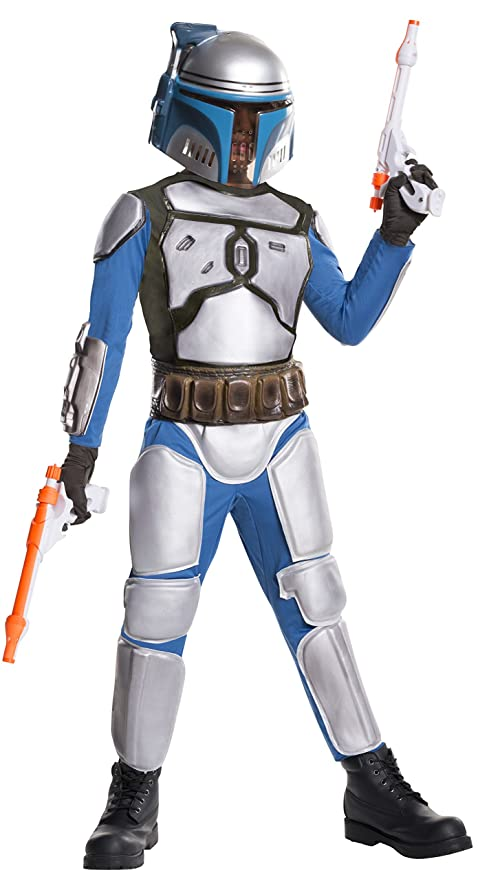 Star Wars Deluxe Childu0027s Jango Fett Costume Large  sc 1 st  Amazon.com & Amazon.com: Star Wars Deluxe Childu0027s Jango Fett Costume Large: Toys ...