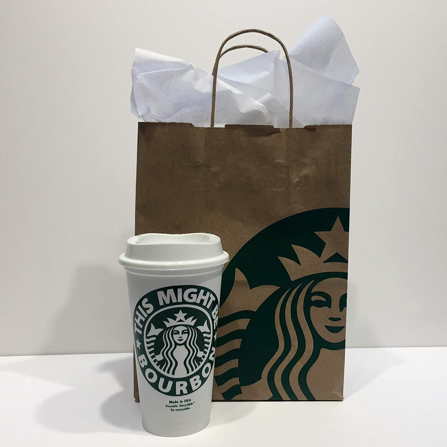 SHIPS FREE Personalized Starbucks CupGrande 16 oz This Might Be Wine Beer or ? You Name it