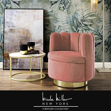 Stupendous Amazon Com Nicole Miller Ragland Accent Chair Velvet Uwap Interior Chair Design Uwaporg