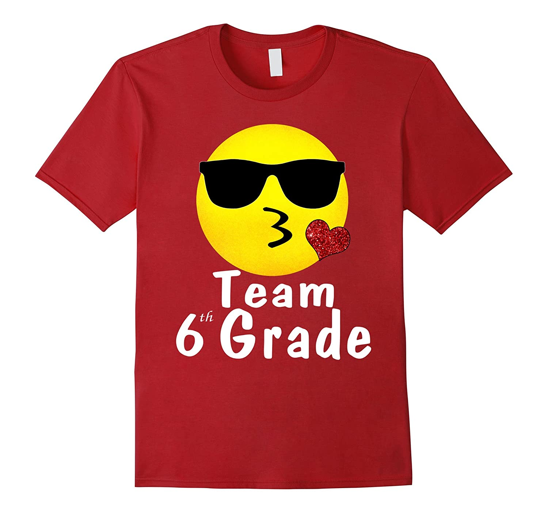 Team 6th Grade Shirts Gifts For Teacher Emoji Hearts Love-ANZ